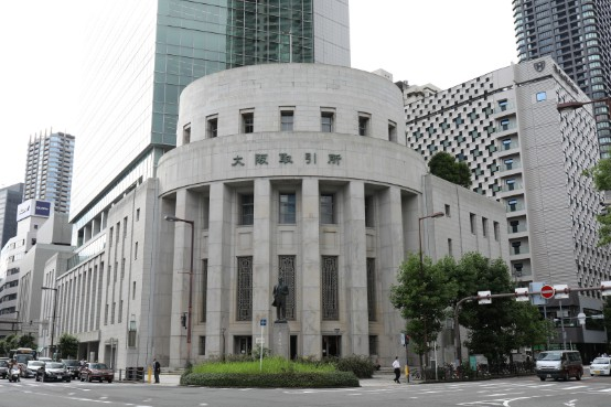 大阪取引所=27日、大阪市中央区