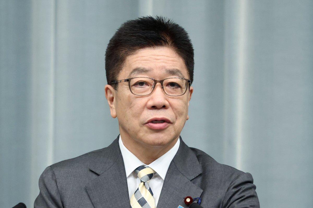 記者会見する加藤勝信官房長官=8月31日、首相官邸